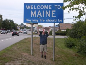 In Maine, not getting eaten by monsters!