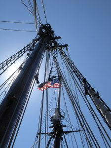 The rigging of the Amistad.