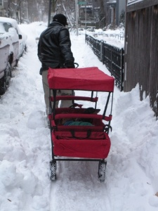 Our Little Red All Terrain Wagon