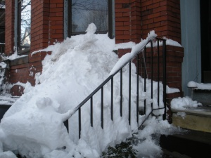 Giant front snow pile.