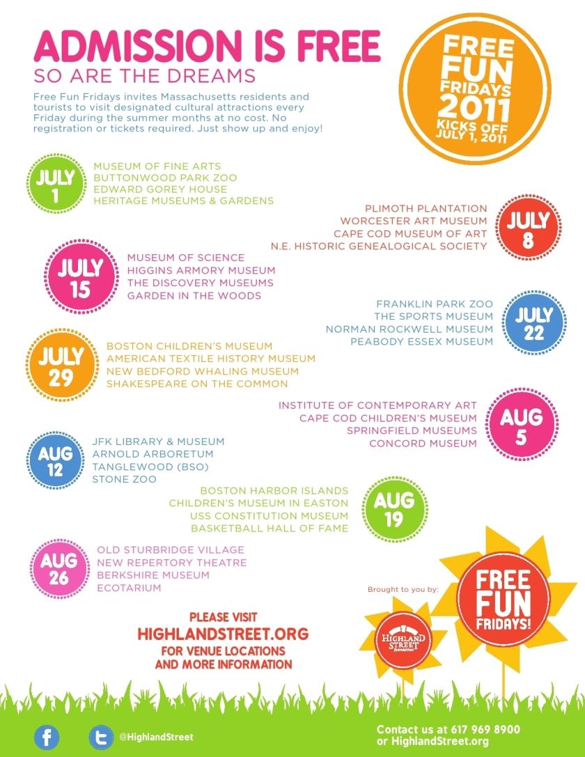 Free Fun Fridays 2011