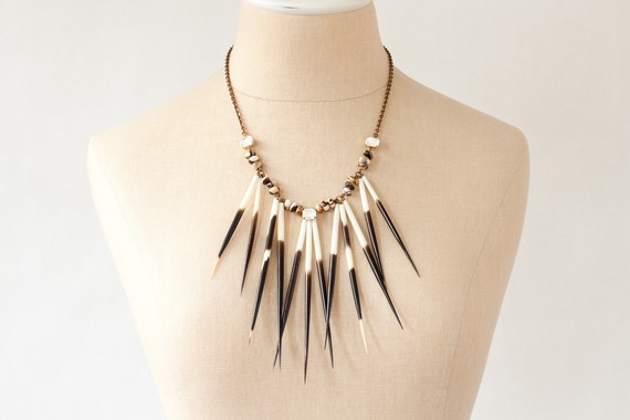 Urban Pioneer Porcupine Quill Necklace