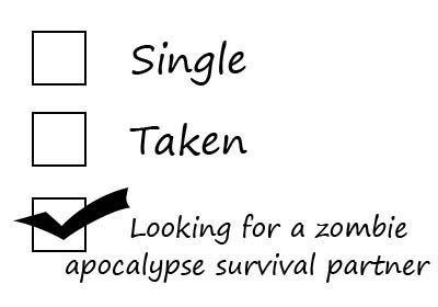 Single, taken, or looking for a zombie apocalypse survival partner?