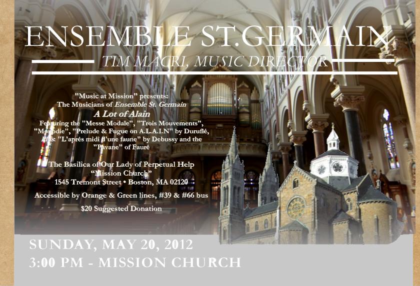 Ensemble St.Germain Concert Sign