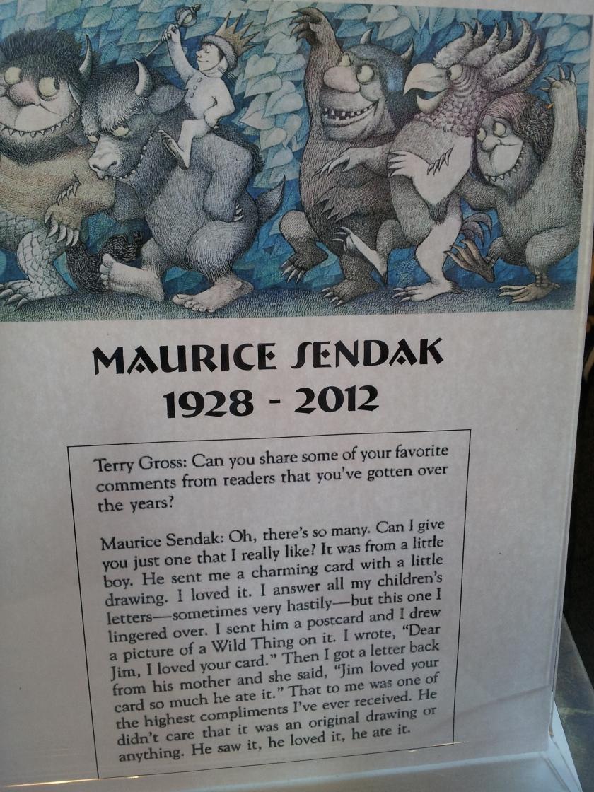 Maurice Sendak made Wild Things.