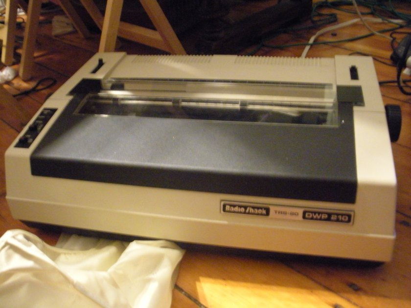 A good old dot matrix printer and its twin.