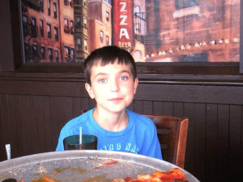 Ben enjoyed his pizza.