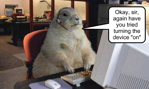 Prairie dogs make everything better, even tech support.