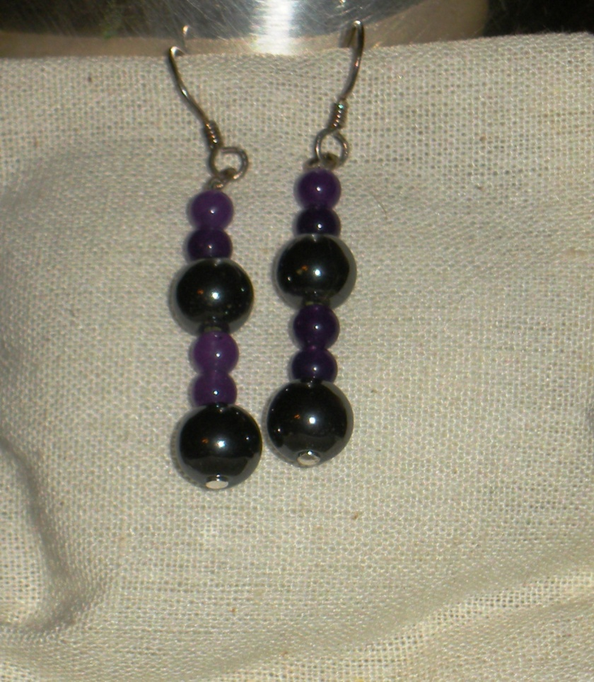 Purple adventurine and hematite.