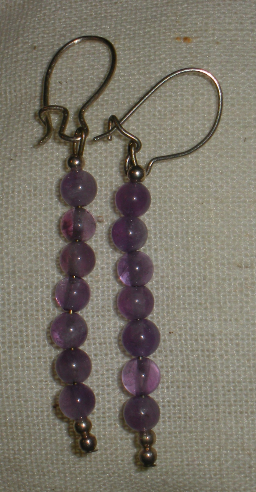 Sterling beads and pale purple amethyst.