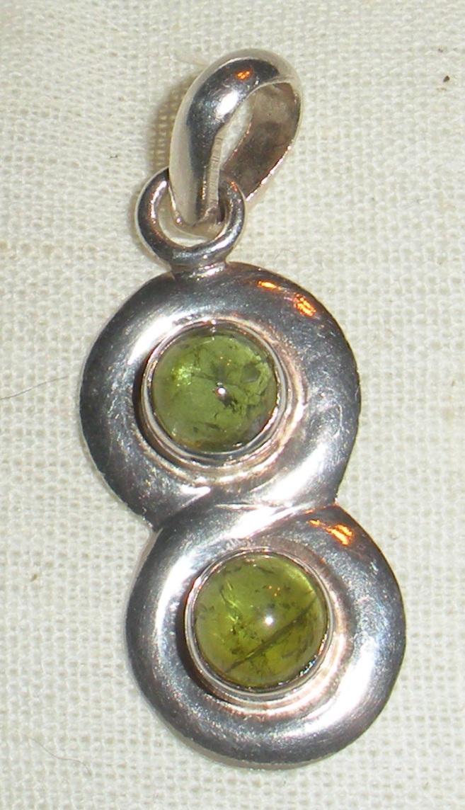 Sterling peridot pendant.