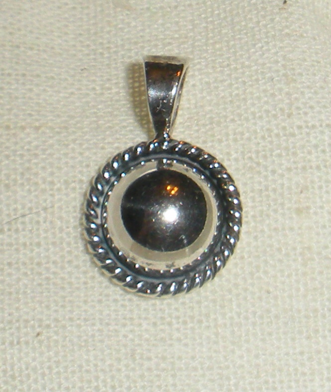 Small sterling pendant.