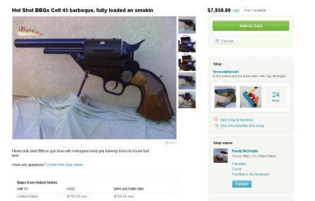 Crazy pistol BBQ