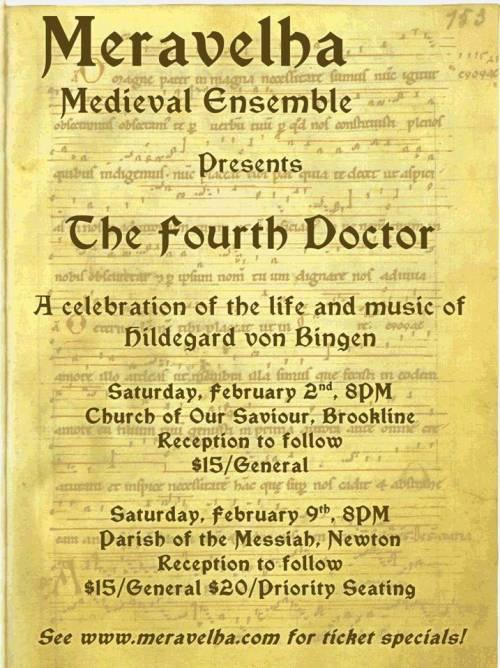 The Medieval ensemble Meravelha presents The Fourth Doctor.