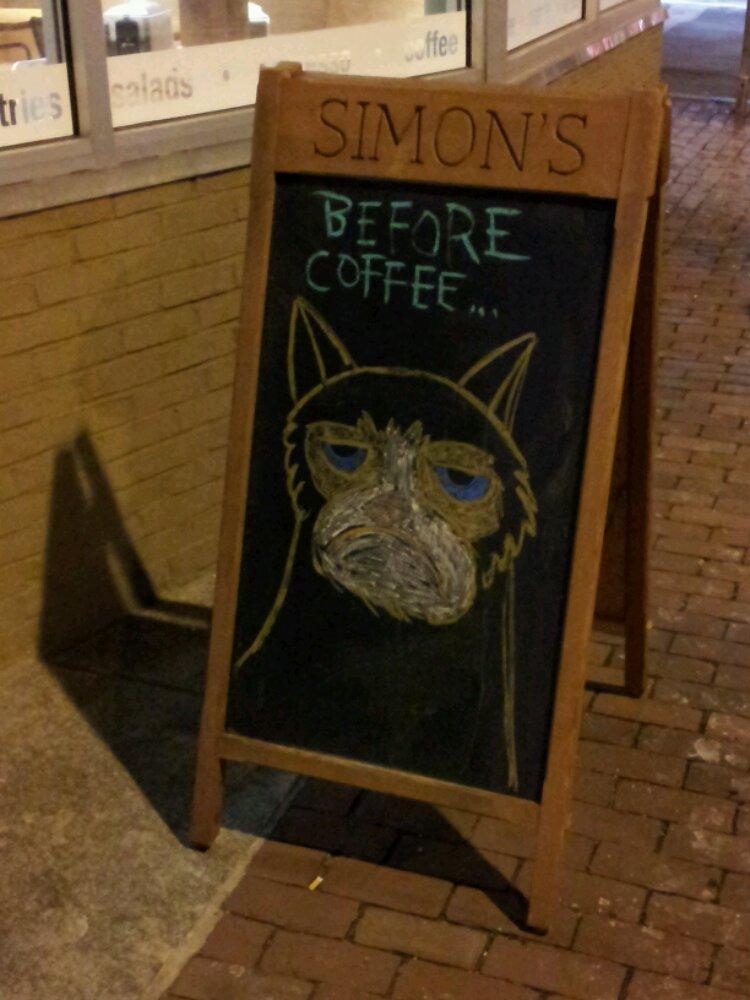 Grumpy Cat, or, Geoff before coffee.