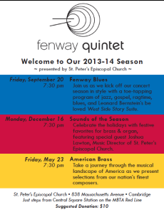 The Fenway Brass are coming to Central Square