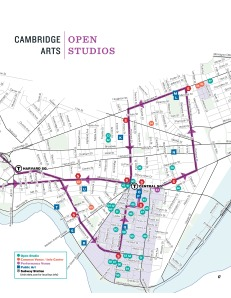 Page 2 of the Cambridge Open Studios Map.  Pay attention to stop #67, that's where I will be.