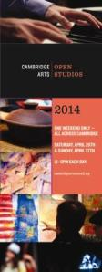 The official Cambridge Open Studios 2014 poster.