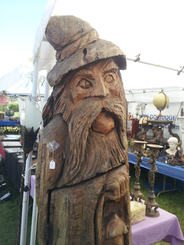 Carved wooden wizard.