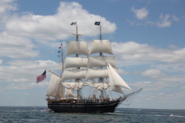 Few things on the water are this impressive.  The oldest commercial sailing vessel afloat, and the second oldest American vessel afloat (Old Ironsides is first).