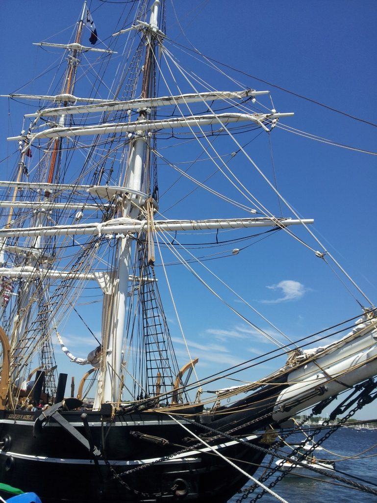 A good look at the foremast with the mainmast in the background.