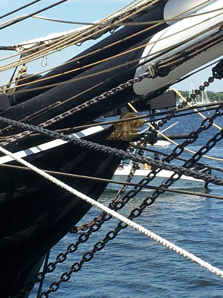 About the best shot we could manage of the figurehead.