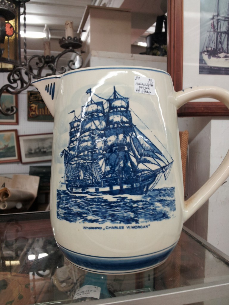 A pitcher featuring the famous whaling ship.
