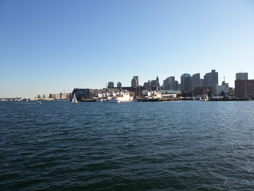 Great view of the Coast Guard Station Boston across the harbor.