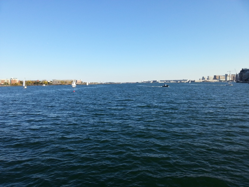 Looking further out into Boston Harbor.