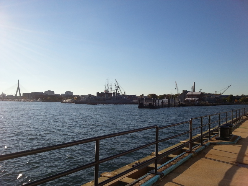 You can see both the USS Constitution and the USS Cassin Young from here.