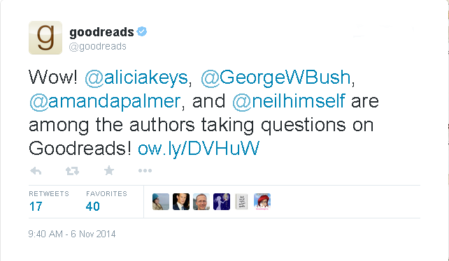 11.6.14 Goodreads Twitter