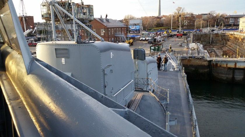 The view of the foc'sle from the starboard wing of the bridge.