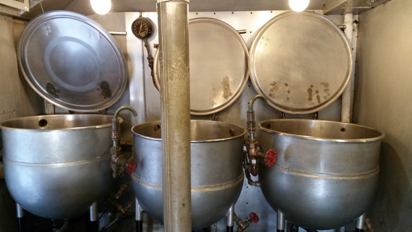 Those are some big pots.  Soup, anyone?