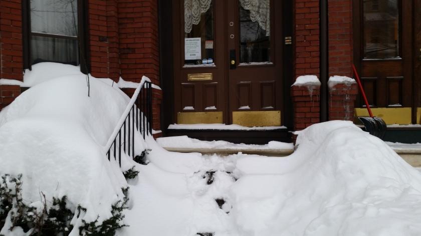 Front steps pre-shoveling