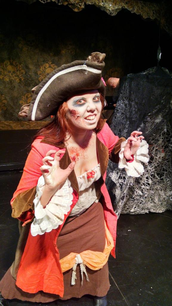 Teri is a full on Zombie Pirate now.  She's hilarious and dangerous.  You should see her tear into a limb onstage.