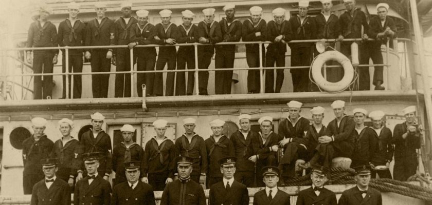 The crew of the USS Conestoga, taken in San Diego sometime in early 1921.