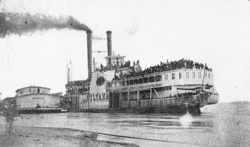 The last photograph of the ship ever taken, by photographer T.W. Bankes
