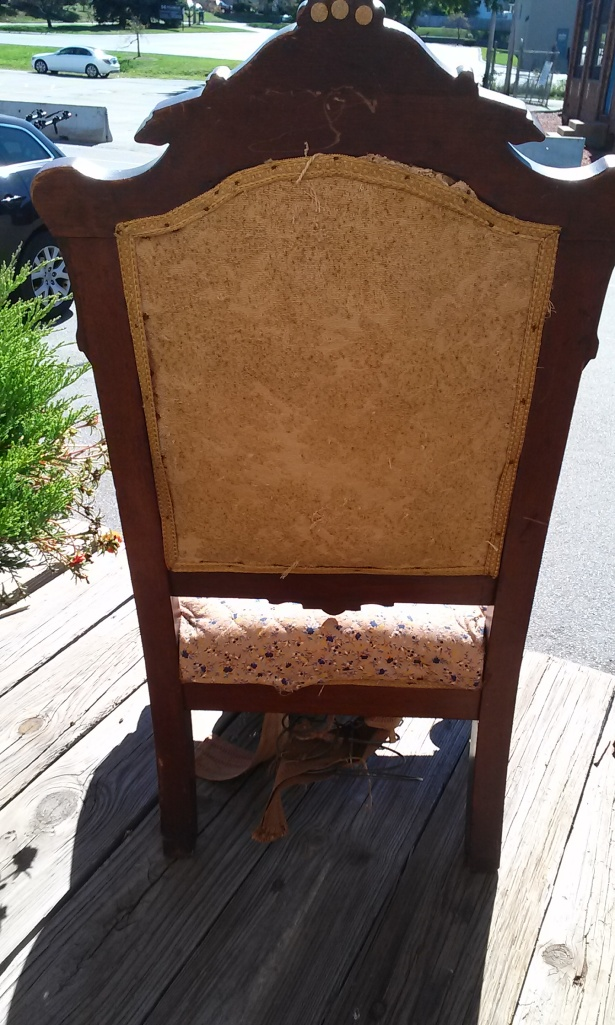 "This is the back view of the ""big chair"" or ""the throne""."