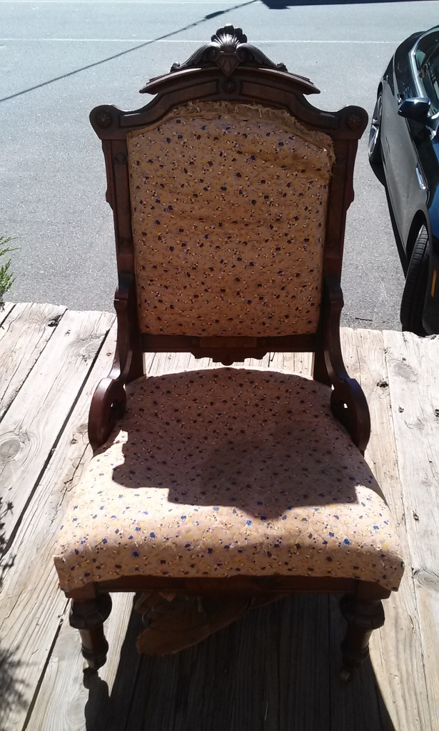 "This is the front view of the ""big chair"" or ""the throne""."