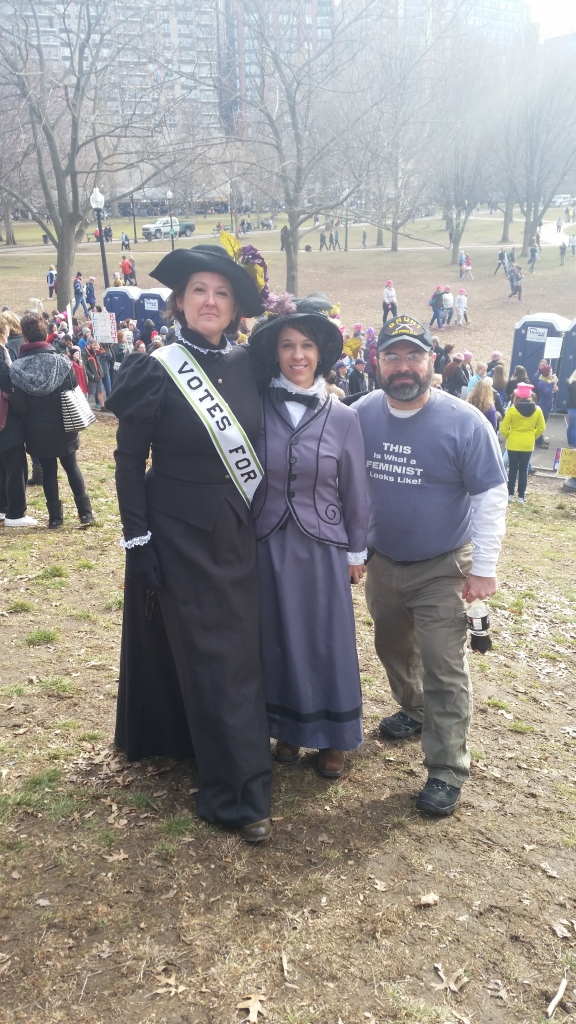 We saw these two women dressed as suffragettes, and I just had to get a picture with them. LOVED it.