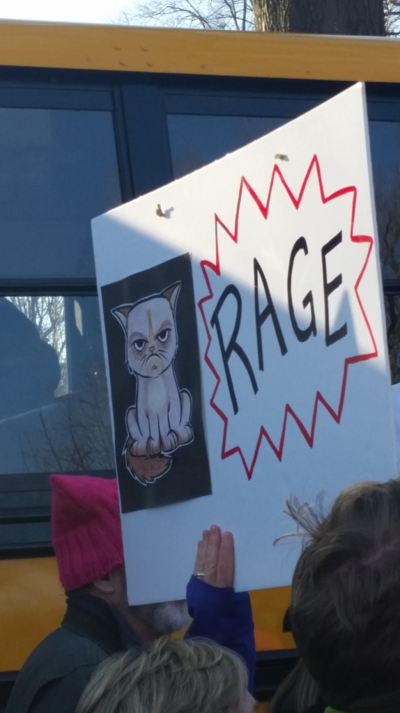 Kelly also loves Grumpy Cat, and I actually saw several signs featuring her favorite angry feline.