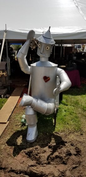 This thing, sitting, was easily 7 feet tall. The desire to put it on our lawn just for giggles was enormous.