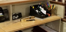 That right there is a GOLD Swingline stapler. It's apparently the next step up from a red one and now I COVET it.