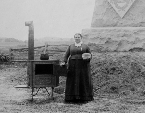 Josephine MIller with stove